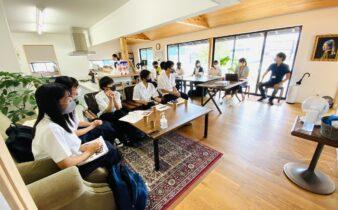 静岡東高校の学生達がSDGsへの取り組みインタビューに来てくれました。